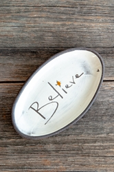 Believe Mini Oval Tray