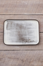 Believe Rectangle Plate