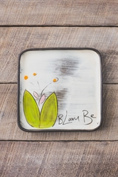 Bloom Be Square Plate (Small/Large - in 5 blooming colors!)