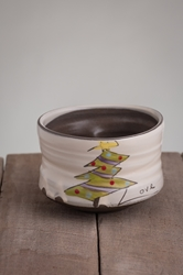 Christmas Tree Tea Bowl (blue or purple garland)