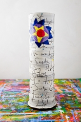 Family Poem Tall Vase