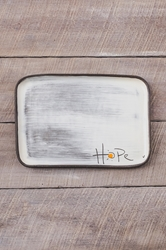 Hope Rectangle Plate