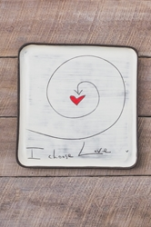 I Choose Love Square Plate (Small/Large)