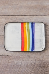 Rainbow Rectangle Plate