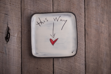 This Way to Love Square Plate (Small/Large)
