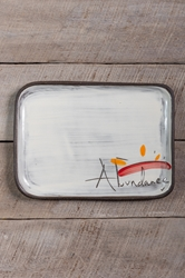 Abundance Rectangle Plate