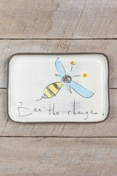 Bee the Change Rectangle Plate