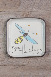 Bee the Change Square Plate (Small/Large)