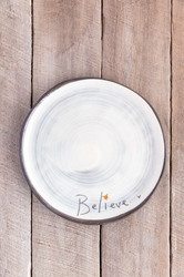 Believe Round Plate (Small/Large)
