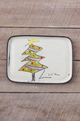 Christmas Tree Rectangle Plate