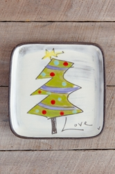 Christmas Tree Square Plate (Small/Large)