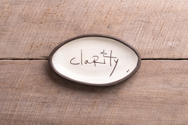 Clarity Mini Oval Tray