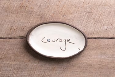 Courage Mini Oval Tray
