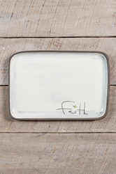 Faith Rectangle Plate