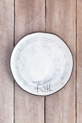 Faith Round Plate (Small/Large)