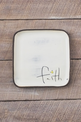 Faith Square Plate (Small/Large)