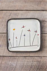 Field Flowers Square Plate (Small/Large)