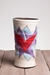 Flaming Heart Round Vase (Orange or Violet Flames) -