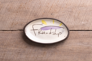 Friendship Mini Oval Tray