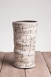 Friendship Poem Round Vase