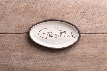 Gratitude Mini Oval Tray