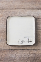 Gratitude Square Plate (Small/Large)