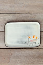 Happy Rectangle Plate