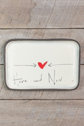 Here and Now Rectangle Plate