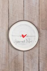 Here and Now Round Plate (Small/Large)
