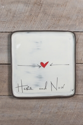 Here and Now Square Plate (Small/Large)