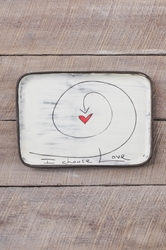 I Choose Love Rectangle Plate