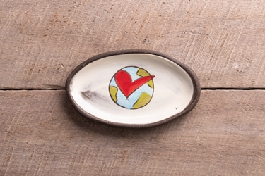 In This Together Mini Oval Tray