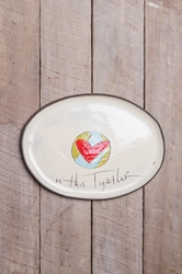 In This Together Oval Tray