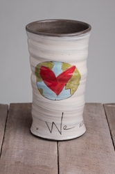 In This Together Round Vase