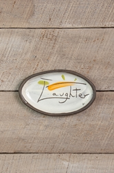 Laughter Mini Oval Tray