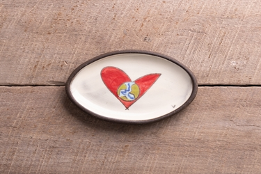 Love Rules Mini Oval Tray