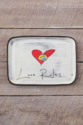 Love Rules Rectangle Plate