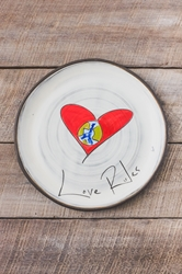 Love Rules Round Plate (Small/Large)