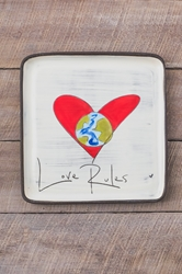 Love Rules Square Plate (Small/Large)