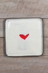 Love (heart) Square Plate (Small/Large)