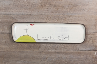 Love the Earth Long Rectangle Tray