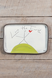 Love the Earth Rectangle Plate