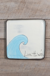 Love the Water Square Plate (Small/Large)