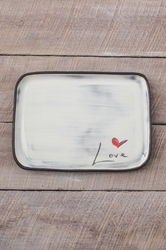 Love (word) Rectangle Plate
