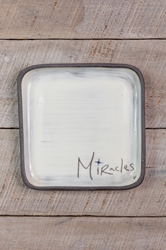 Miracles Square Plate (Small/Large)