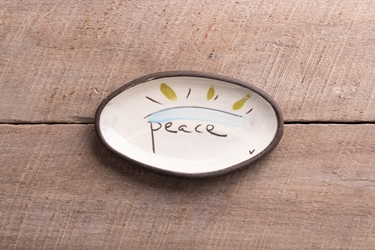 Peace Mini Oval Tray