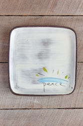 Peace Square Plate (Small/Large)