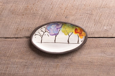 Seasons Mini Oval Tray