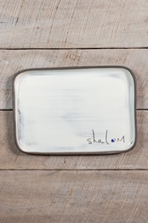 Shalom Rectangle Plate