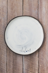 Shalom Round Plate (Small/Large)